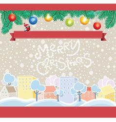 Cartoon Christmas Template vector image