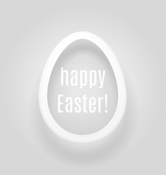 easter egg from a paper strip casting shadow vector image vector image