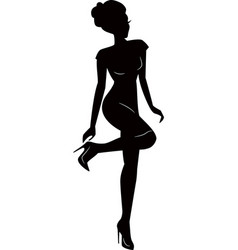 sexy woman girl silhouettes vector image