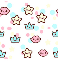 the stars lips and crowns vector image