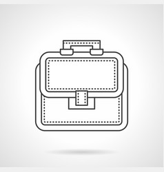 Bag of lawyer flat line icon vector