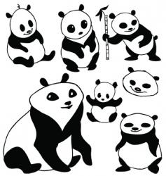 cartoon panda vector image vector image