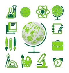 education school symbol collection vector image vector image