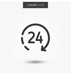 icon 24 hour vector image
