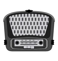 vintage radio vector image vector image