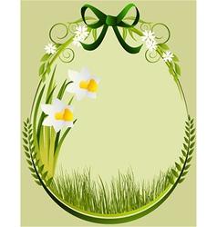 Easter decoration frame vector image