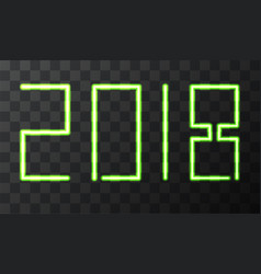 modern neon 2018 happy new year background vector image