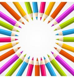 pencil rainbow circle vector image