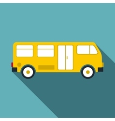 Bus icon flat style vector image vector image