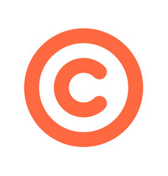 copyright symbol or sign flat icon vector image vector image