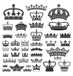 CROWNS Antique and decorative vector image vector image