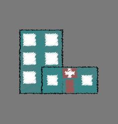 Flat shading style icon hospital building vector