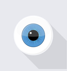 human eyeball eye with bright blue vector image vector image