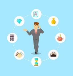 successful businessman speaking on phone vector image