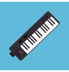 Synthesizer music instrument graphic icon vector