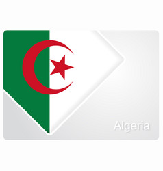 Algerian flag design background vector