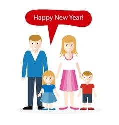 Americans or English Congratulation Happy New Year vector