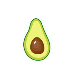 Avocado fruit icon inside vector