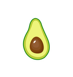 avocado fruit icon inside vector image
