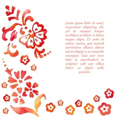 background of stylized flower vector image