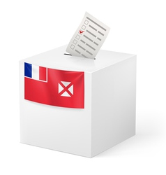 Ballot box with voting paper Wallis and Futuna vector