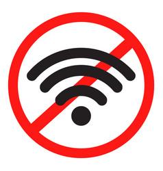 ban internet icon vector image