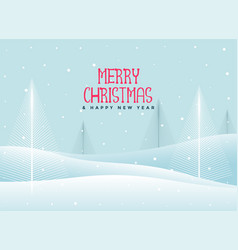 beautiful christmas winter landscape background vector image