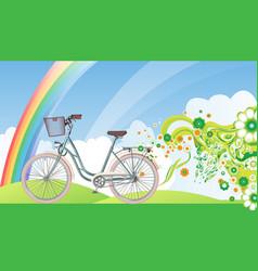 bicycle eco world vector image vector image