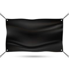 black mock up vinyl banner vector image