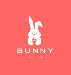 Bunny drink logo icon vector