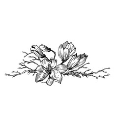 composition in engraving style vector image