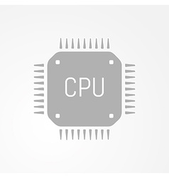 Computer chip or microchip icon vector