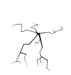 crack on white vector image