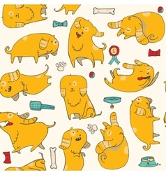 Cute with fun puppies in vector