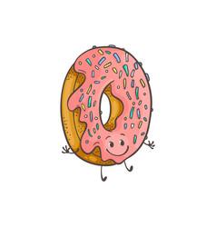 doughnut ring cartoon vector image