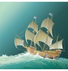 Galleon mayflower vector