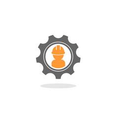 Gear contractor logo vector