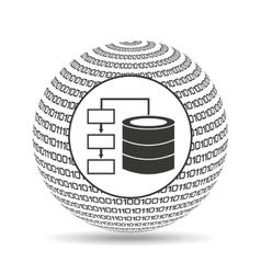 Globe binary concept database storage vector