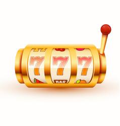 golden slot machine wins jackpot big win vector image