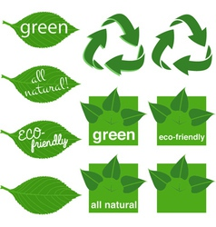 Green Logos vector image