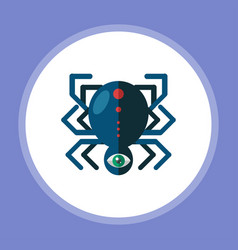 halloween spider icon sign symbol vector image