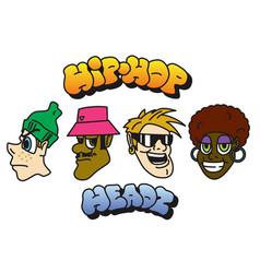Hip-hop character set vector