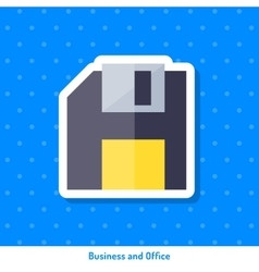 Icon of floppy disk vector