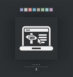 info website icon vector image