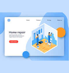 is written home repair flat vector image