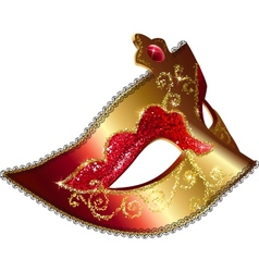 Isolated Venician carnival mask vector image