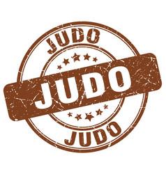 judo stamp vector image