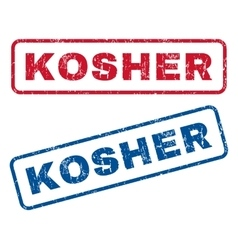 Kosher Rubber Stamps vector