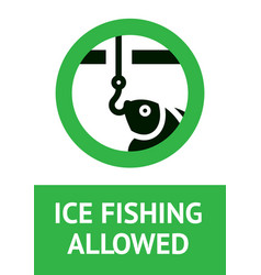Label fishing allowed for print vector