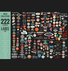Labels set premium quality cafe bakery sale vector